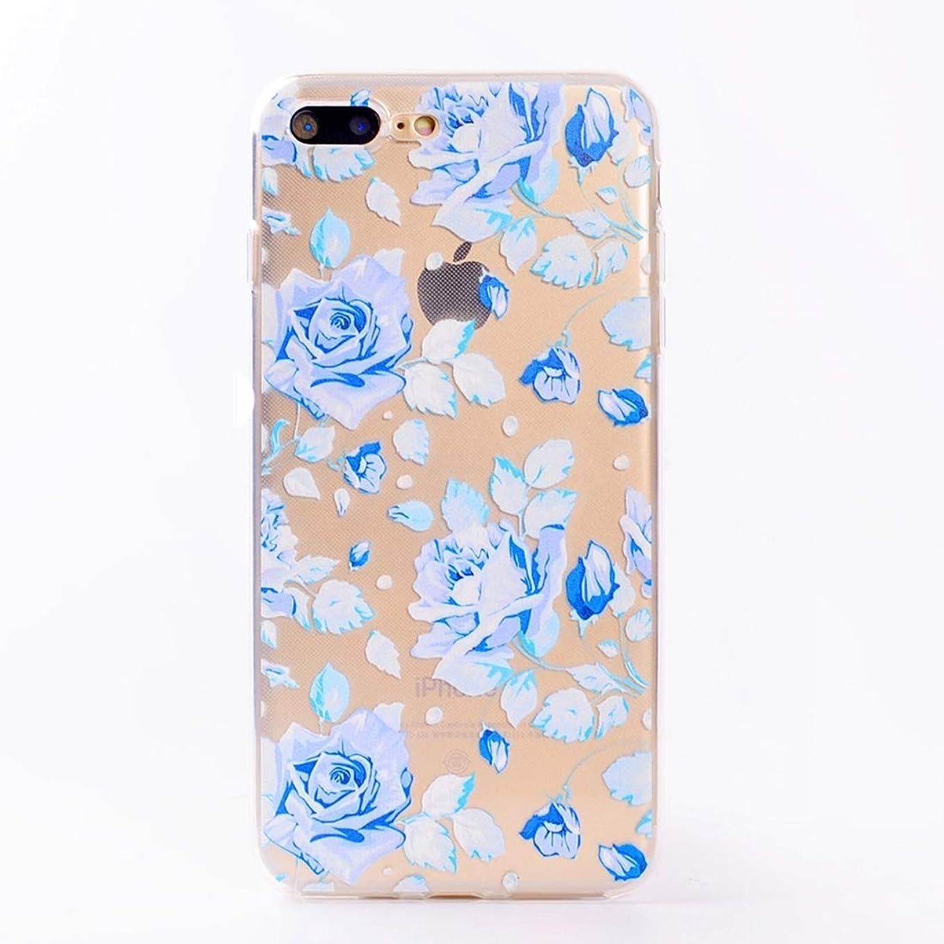 表面七面鳥花嫁YMF iPhone 8 Plus&7 Plus用ソフトTPU保護ケース (Color : Color1)