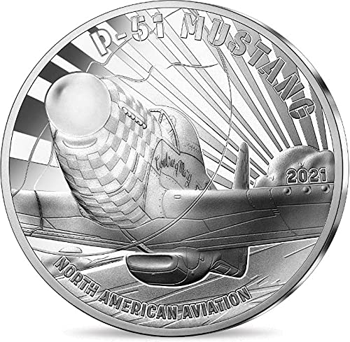 Tucson Mall 2021 San Francisco Mall FR Modern Commemorative PowerCoin Aviation P51 Mustang And