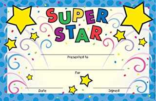 Eureka Back to School 'Super Star' Recognition Rewards for Kids, 36pc, 8.5'' W x 5.5'' H