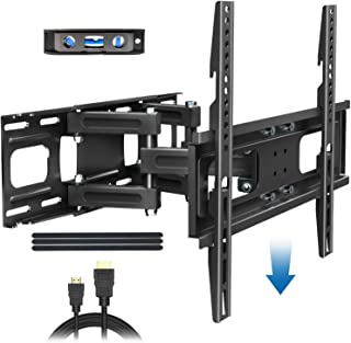 BLUE STONE Full Motion TV Wall Mount Bracket with Height Setting for Most 27-65 inch up to 121 lbs,VESA 400x400 mm,Dual Sw...