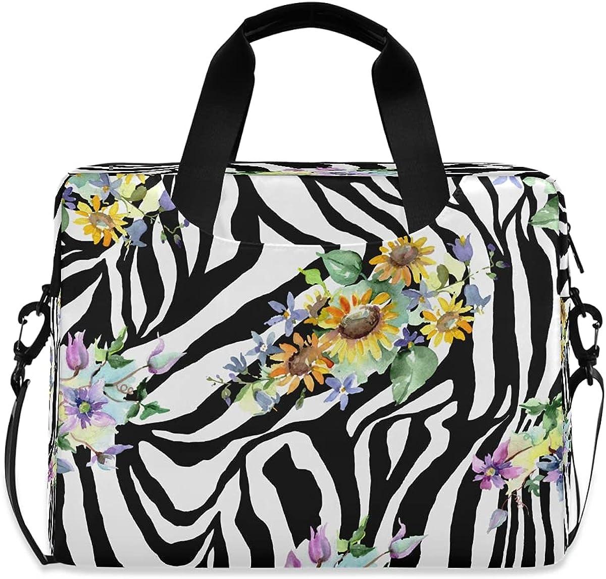 JMbuild Laptop Case 15.6 inch Zebra Skin Animal Com Flower Print Large special price !! Max 58% OFF