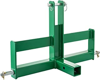 Mophorn Heavy Duty 3 Point 2 Inch Receiver Trailer Hitch Attachment Category 1 Tractor Drawbar Green