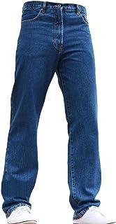 BLUE CIRCLE Mens Jeans Heavy Duty Workwear Basic Straight Regular Fit Stonewash Jeans 28-60