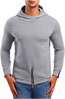 DressU Men's Cozy Outwear Athletic Pullover Zipper Sweatshirt Hoodies