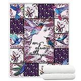TreeSwift Hummingbird Blankets Soft Warm Sherpa Hummingbird Throw Blankets for Kids and Adults Cozy Blankets Hummingbird Gifts for Women and Girls