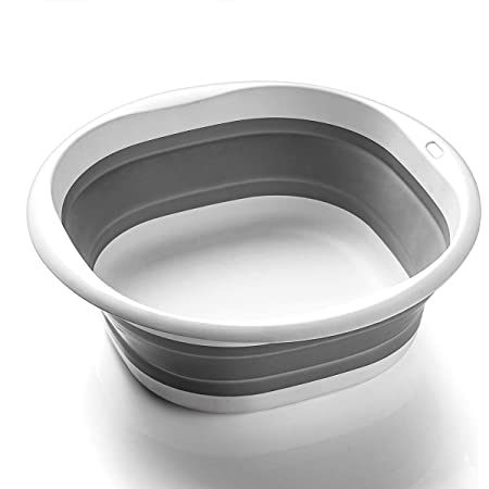 SOLPEX 折りたたみ 洗面器 湯おけ 抗菌 洗い桶 風呂 桶 シリコン キッチン 収納 省スペース 旅行に持つ 洗濯 掃除 足浴 浸け置き 洗い持ち運び 内外に適用 多機能 安全素材 角形 一年間品質保証(3サイズ)(Lサイズ)