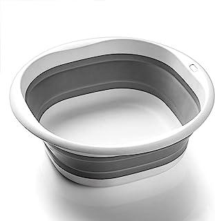 SOLPEX 折りたたみ 洗面器 湯おけ 抗菌 洗い桶 風呂 桶 シリコン キッチン 収納 省スペース 旅行に持つ 洗濯 掃除 足浴 浸け置き 洗い持ち運び 内外に適用 多機能 安全素材 角形 一年間品質保証(3サイズ)(Mサイズ)