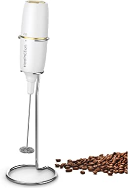 HadinEEon Milk Frother Handheld, Electric Milk Foamer for Coffee, Coffee Frother with Stainless Steel Whisk, Drink Mixer for
