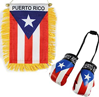 Flagline Puerto Rico - Boxing Glove and Window Hanger Combo