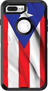 DistinctInk Custom Skin/Decal Compatible with OtterBox Defender for iPhone 7 Plus / 8 Plus - Red White Blue Puerto Rico Flag