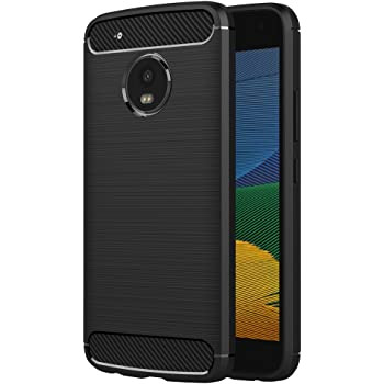 AICEK Funda Moto G5, Negro Silicona Fundas para Lenovo Motorola ...