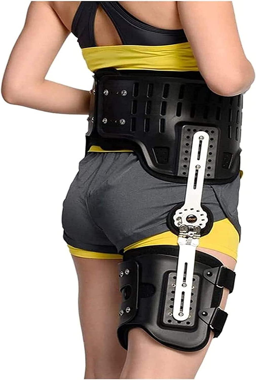 GKPLY ROM Ortesis de abducción de Cadera postoperatoria, fracturas de Muslo Equipo de protección correctiva Soporte Inmovilizador Soporte de Rodilla Protector ortopédico Protector.
