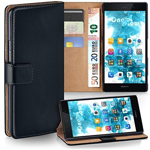 MoEx Premium Book-Hülle Handytasche passend für Huawei P8 Lite 2015 | Handyhülle mit Kartenfach & Ständer - 360 Grad Schutz Handy Tasche, Schwarz