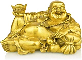 Xkun Feng Shui Products Laugh Buddha Image Brass Brass Handmade Buddhist Statue Sculpture Home Decoration