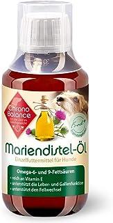 ChronoBalance 100ml Mariendiestel-Öl für Hunde - natürliche Nahrungsergänzung - unterstützt den Fellwechsel - reich an Vitamin E, Omega-6 und Omega-9