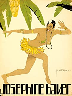 Josephine Baker: Banana Dress (artist: Pietri) France c. 1928 - Vintage Advertisement (16x24 Fine Art Giclee Gallery Print, Home Wall Decor Artwork Poster)