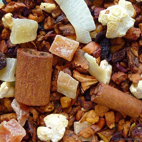 100g Knusperhäuschen Früchte Tee mit Popcorn und gebrannten Mandeln