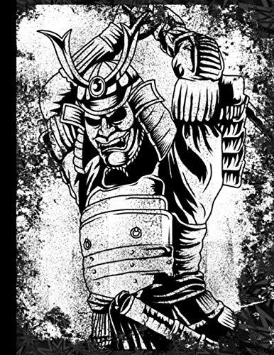 Retro Samurai Book For Kids Japanese Warrior Martial Arts Composition Notebook: Japanese Samurai Gifts