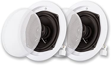 Acoustic Audio R-191 in Ceiling/in Wall Speaker Pair 2 Way Home Theater Surround Speakers