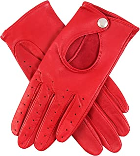 Dents Womens Thruxton Hairsheep Leather Driving Gloves - Berry Red