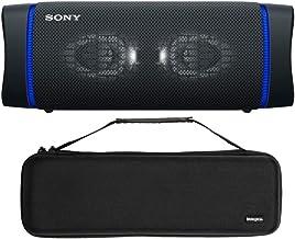Sony SRSXB33 Extra BASS Bluetooth Wireless Portable Speaker (Black) with Knox Gear Hardshell Travel and Storage Case Bundl...