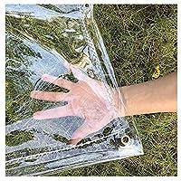 SHIJINHAO 防水シート,0.3mm透明PVC防水ターポリン厚手レインプロテクションタープソフトプラスチックバルコニーレインカーテンサンプロテクションタープアイレット付き400gsm、33サイズ (Color : 明確な, Size : 4x5m)