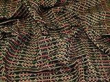 Strukturierter gewebter Jacquard-Stoff, Olivgrün,
