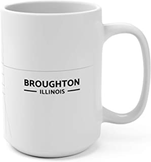 Broughton, Illinois Map Mug (15 oz)