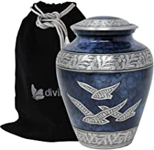 Divinityurns Wings Hope Cremation Urn - Large Wings Freedom Urn - Returning Home Adult Urn - Handcrafted Affordable Urn Hu...