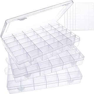 Rectangular Plastic Clear Storage Box Jewelry tool Container Organizer CasMWC zh