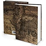 'DIN A5Cuaderno Viejo Mundo, vacía regalo libro para notas, Bocetos y Historias Diseño Vintage