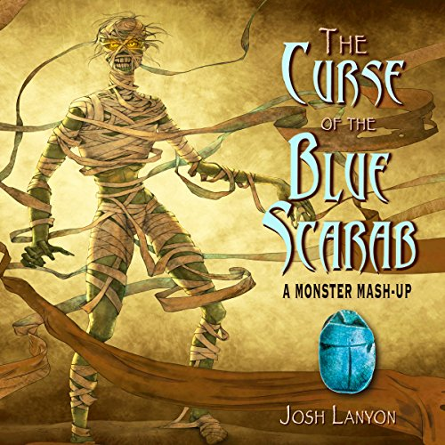 The Curse of the Blue Scarab audiobook cover art