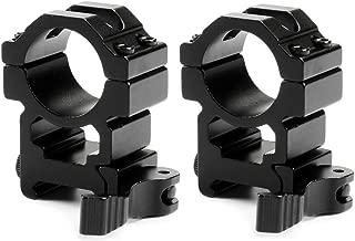Mizugiwa 1 Inch Quick Release Scope Rings/Quick Release Scope Mount Rings - 2 Pcs