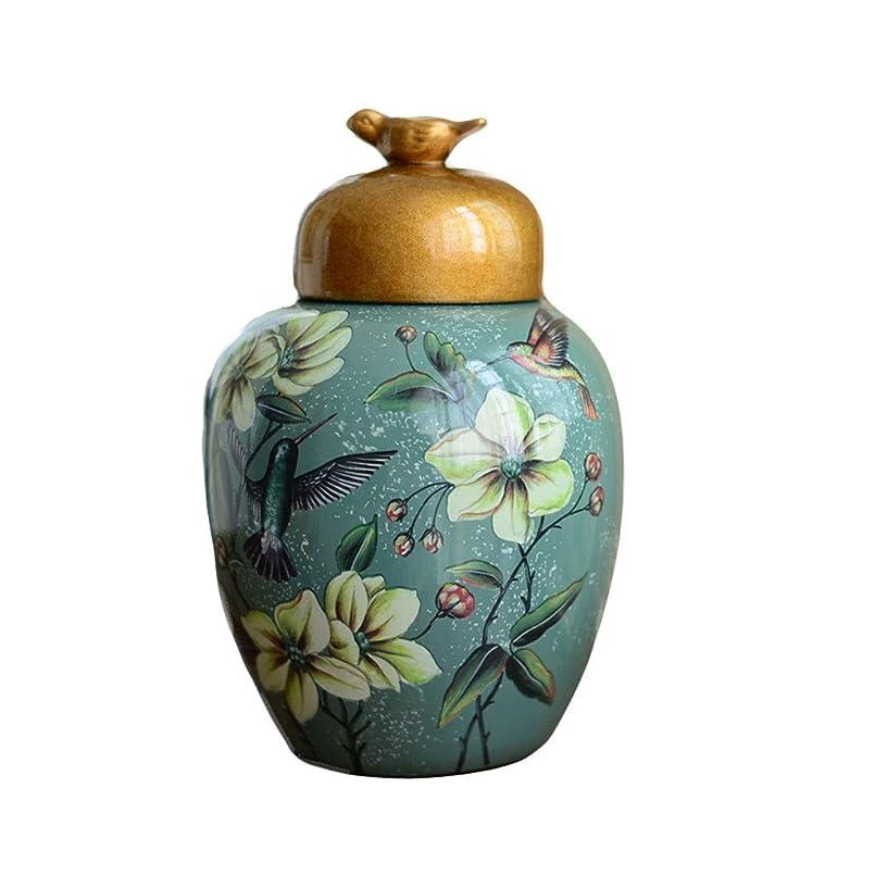 魂指定誰でも花瓶 ふた手作りの家庭リビングルームのテレビキャビネットポーチディナーテーブルカウンター装飾オーナメントクラフトで乾燥させ、人工花のアレンジメントのためのアメリカのセラミック花瓶、 (Color : #3, Size : 9x37x13cm)