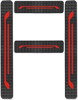 Protectores de Umbral de la Puerta del Coche para A/B/C/E/G/S/V-Class CLA CLS GLA GLC GLE GLS SLC AMG GT 4D Vinilo Fibra de Carbono Adhesiva Pegatinas Rojo 4 Piezas