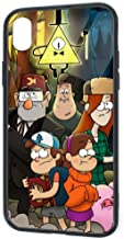 Tempered Glass Back iPhone XR Cases, Soft TPU Raised Edge Funny Bumper, Shockproof Scratch Proof Full Protective Case Cover for iPhone XR, Gravity Falls Dipper's Guide to The Unexplained Fan Art