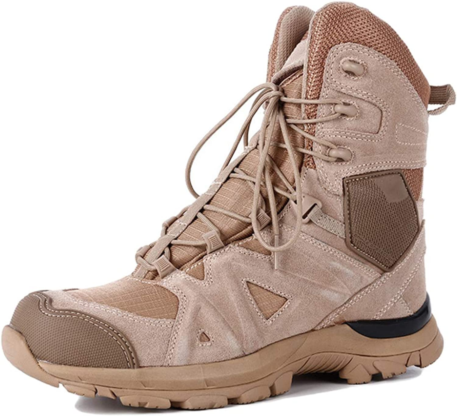 YC Mens Combat Boots High Tops Outdoor Tactical Boots Crash Toe Lace Ups Desert Boots For Police Hiking Treking Military Patrol shoes