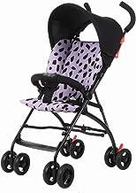 Carritos y sillas de Paseo Cochecito de fácil Plegado de Asientos reclinables de Posiciones múltiples con una Mano Amortiguador de Choque Ligero Bebé Sillas de Paseo