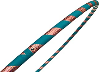 SpinMajik Kid's Hula Hoop Handmade for Fitness, Dance and Fun! Choose Your Tape Color and Child's Size (Teal & Sparkles, Medium (32