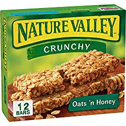 Nature Valley Crunchy Granola Bar Oats 'n Honey  12 ct Bars,8.94 Ounce
