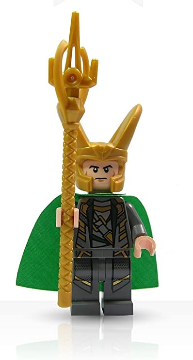 LEGO Super Heroes Avengers Minifigure - Loki with Scepter : Toys & Games