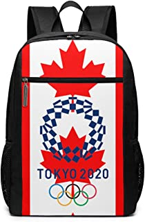 Lhdesign Adult The Olympic Rings Canada Flag Sporty Shoulders Bag Computer Fashion School 17 Inch Shoulders Bag