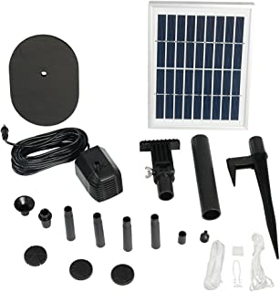 Sunnydaze Solar Powered Water Pump and Panel Kit with 36-Inch Lift, Use for Outdoor Fountain, Bird Bath, or Pond, 66 GPH