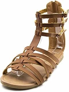 Orly Shoes Women's Width Bobo Adjustable Strap Up Sandal in Cognac Size: 7W