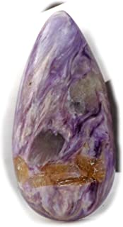 The Best Jewellery Charoite cabochon, 27Ct Natural Gemstone, Pear Shape Cabochon For Jewelry Making (34x17x6mm) SKU-14993