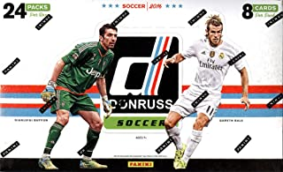 2016 Panini Donruss Soccer Hobby Box (24 Packs of 8 Cards (24 Inserts, 24 Parallels) - 1 Autograph or Canvas Per Box