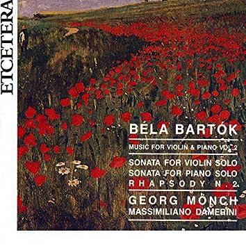 Bartok, Music for violin and piano Vol. 2 Sonatas and Rhapsody N. 2