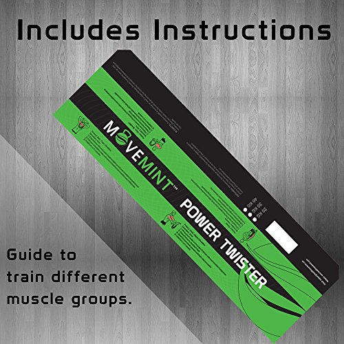 MOVEMINT Power Twister | Chest Resistance Spring Bar Exerciser (50KG/110LBS)