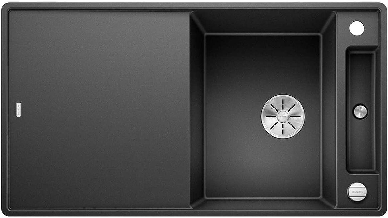 Weiß Axia III 5 S-F Anthrazit Schwarz 523 231 Granitspüle Spülbecken Küche mit Glasschneidbrett Exzenterbettigung
