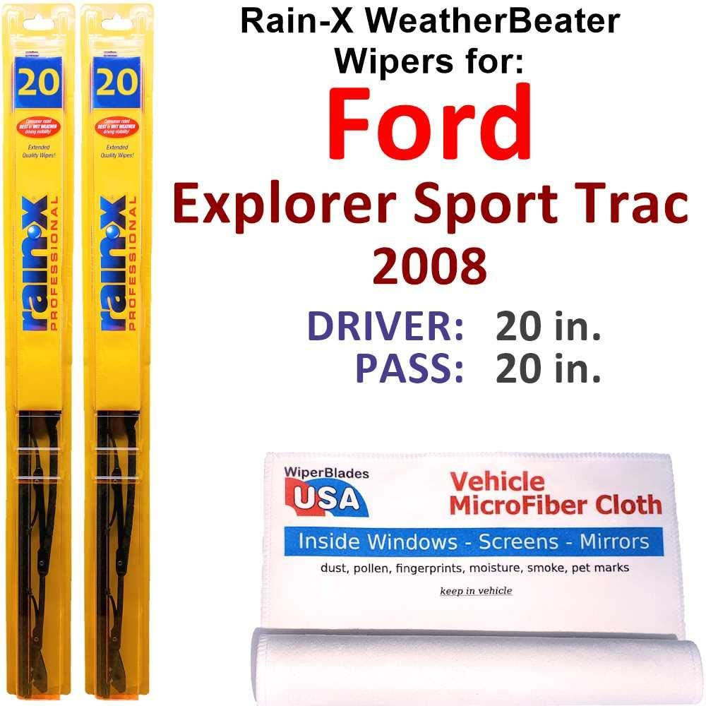 Rain-X WeatherBeater Wiper Blades for 2008 Explorer T Sport Max 80% OFF Ford High quality
